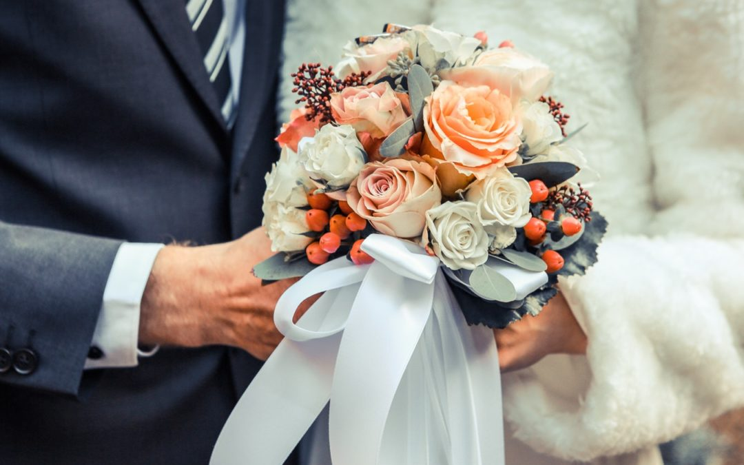 Ramos de novia para bodas en invierno